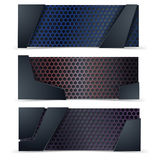 Vector modern banners set with texture Royalty Free Stock Photography