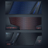 Vector modern banners set with texture Stock Photography
