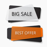Vector modern big sale and dest offer banners Stock Photography