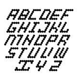 Vector modern black alphabet on white Stock Images