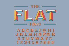 Vector of modern bold font and alphabet. Vintage Alphabet vector 80 s. 90 s Old style graphic set. Retro Chiseled Alphabet Vector Font. Type letters, numbers Royalty Free Illustration