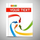 Vector Modern Book or Brochure Cover Design Stock Image