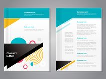Vector modern brochure with abstract geometric design, abstract flyer with technology background. Poster. Magazine cover. Royalty Free Stock Photo