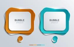 Vector modern bubble speech icons set. Stock Photography