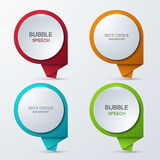 Vector modern bubble speech icons set. Royalty Free Stock Photos