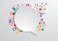 Vector modern business bubble speech template with Stock Photography