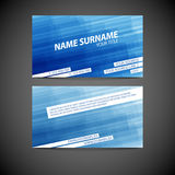 Vector modern business card template Stock Images