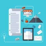 Vector modern business development background Stock Photography