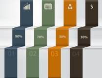 Vector modern business steps to success charts and Stock Photography