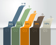 Vector modern business steps to success charts and. Graphs options banner Royalty Free Stock Photography