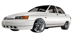 Vector modern car Royalty Free Stock Image