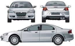 Vector modern car isolated Stock Images