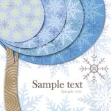 Vector modern card design with stylized winter tre Stock Images