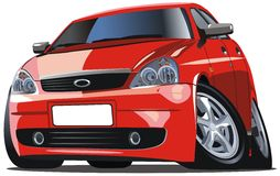 Vector modern cartoon car Royalty Free Stock Photo