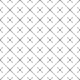 Vector modern cell pattern with crosses stock illustration