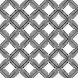 Vector modern cell pattern on white background stock illustration