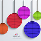 Vector modern chinese Paper Lantern background. Royalty Free Stock Image