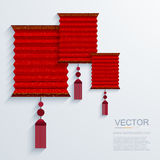 Vector modern chinese Paper Lantern background. Stock Photography