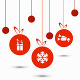 Vector modern christmas background. Royalty Free Stock Photo