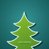 Vector modern christmas tree background.. Invitation of xmas or happy new year Stock Photo
