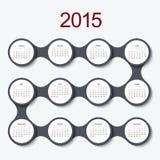 Vector modern circle 2015 calendar Stock Photos