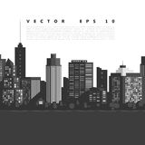Vector modern city Royalty Free Stock Images