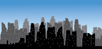Vector modern city skyline Stock Photos