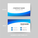 Vector modern and clean business card design template Royalty Free Stock Photography
