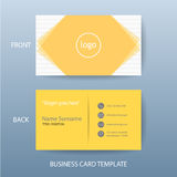 Vector modern and clean business card design template Stock Image