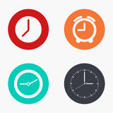 Vector modern clock colorful icons set Stock Image