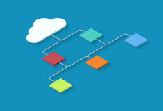 Vector modern cloud computing infographics background. Stock Photos
