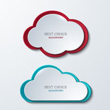 Vector modern clouds banners set. Stock Photo