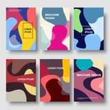 Vector modern color abstract background brochure templates set. Vector set of brochure design templates. Modern color abstract backgrounds Stock Photography
