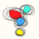 Vector modern colorful circle abstract background Stock Image