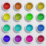 Vector modern colorful circle banners set on gray Stock Image