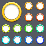 Vector modern colorful circle button set Stock Photography