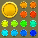 Vector modern colorful circle button set Stock Images