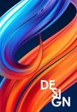 Vector modern colorful flow poster. Wave Liquid shape on dark background. Trendy design. Vector modern colorful flow poster. Wave Liquid shape on dark vector illustration