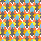 Vector modern colorful geometry pattern. Abstract background decoration. Pillow multicolor bright print. Hipster design Stock Images