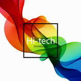 Vector modern colorful hi-tech abstract background. Stock Image