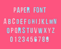 Vector modern colorful paper font with numbers.  stock illustration