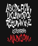 Vector of modern comical font and alphabet vector illustration