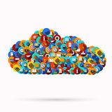Vector modern computer cloud design Royalty Free Stock Image
