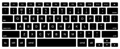Free Vector Modern Computer Keyboard Background Royalty Free Stock Images - 57290549