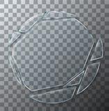 Vector modern concept broken glass on transparent background.  vector illustration