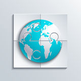 Vector modern concept puzzle and world. Royalty Free Stock Images