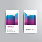 Vector modern creative business card template. Royalty Free Stock Image
