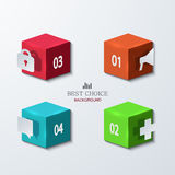 Vector modern cube infographics element design. Royalty Free Stock Photography
