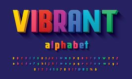 Vector of modern 3D bold alphabet design royalty free illustration