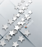 Vector modern 3d paper stars Stock Photos